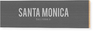 Wood Print featuring the photograph Santa Monica California by Sean McDunn