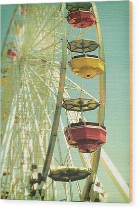 Wood Print featuring the photograph Santa Monica Ferris Wheel by Douglas MooreZart