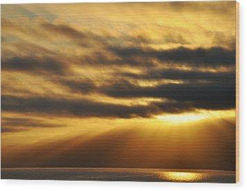 Wood Print featuring the photograph Santa Monica Golden Hour by Kyle Hanson
