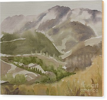Santa Monica Mountains California Wood Print
