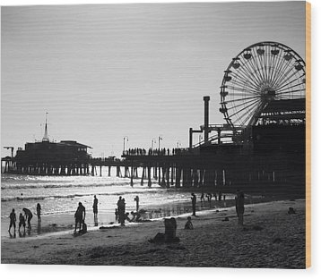 Santa Monica Pier Wood Print by John Gusky