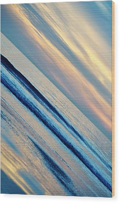 Wood Print featuring the photograph Santa Monica Sunset by Kyle Hanson