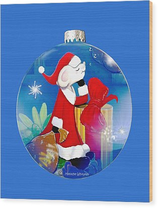 Santa Mouse Child's Shirt Wood Print