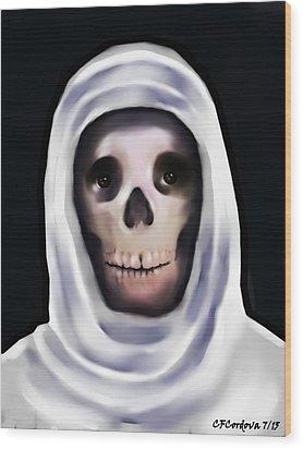 Santa Muerte Wood Print by Carmen Cordova