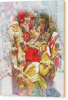 Santa Scene 1 Wood Print