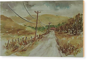 Wood Print featuring the painting Santa Teresa County Park California Landscape 1 by Xueling Zou