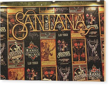 Santana House Of Blues Wood Print by Chuck Kuhn