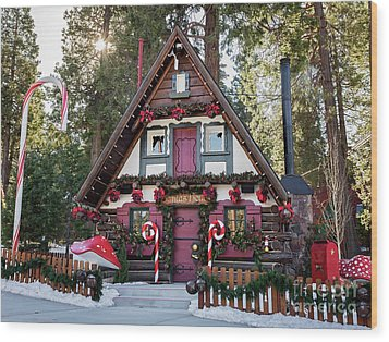 Wood Print featuring the photograph Santa's House by Eddie Yerkish