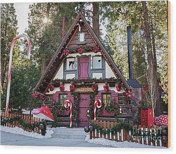 Santa's House Wood Print by Eddie Yerkish