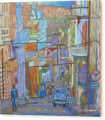 Santiago De Cuba Wood Print by Rae  Smith PSC