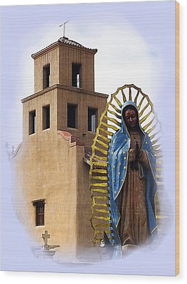Wood Print featuring the photograph Santuario De Guadalupe Santa Fe New Mexico by Kurt Van Wagner