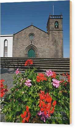 Sao Miguel Arcanjo Church Wood Print by Gaspar Avila