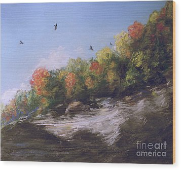Soaring Over The North Rim, Autumn Wood Print