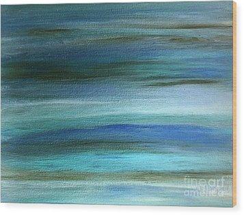 Sapphire Mirage  Wood Print