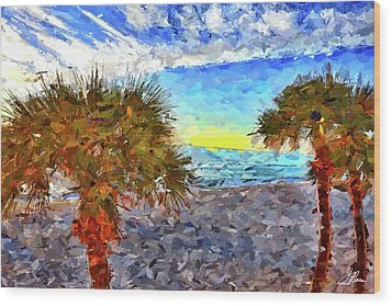 Sarasota Beach Florida Wood Print