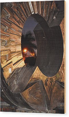 Wood Print featuring the photograph Sarasota Nights 2 by John Knapko
