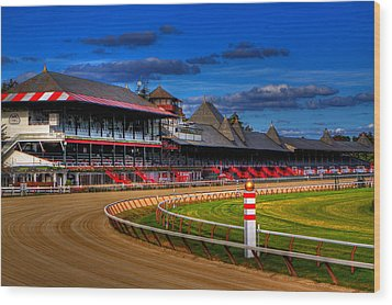 Saratoga Race Track Wood Print by Don Nieman