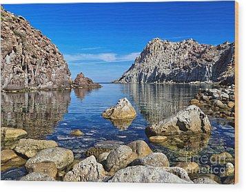 Sardinia - Calafico Bay  Wood Print