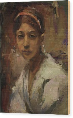 Sargent Study Number 1 Capri Girl Wood Print by Brian Kardell