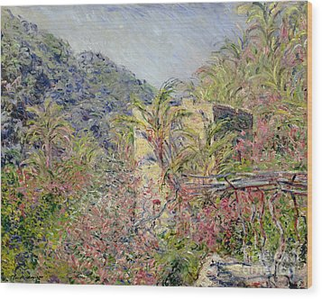 Sasso Valley Wood Print by Claude Monet