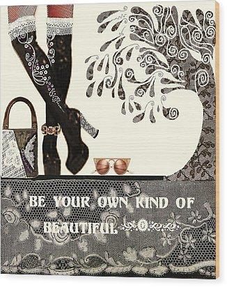 Sassy Boots  II Wood Print by Jenny Elaine