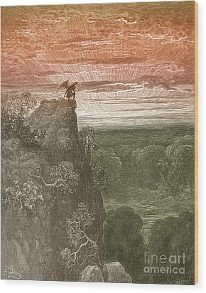 Satan, By Dore Wood Print by Photo Researchers