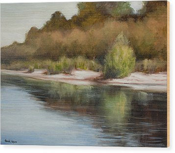 Satilla River Reflections Wood Print