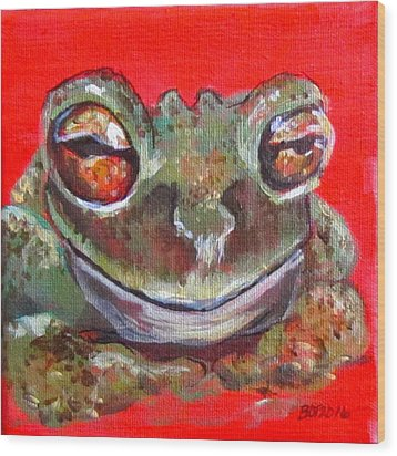 Satisfied Froggy  Wood Print