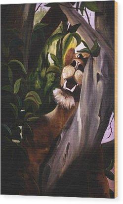 Wood Print featuring the painting Satisfied by Renate Nadi Wesley