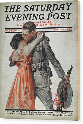 Saturday Evening Post Wood Print by Granger