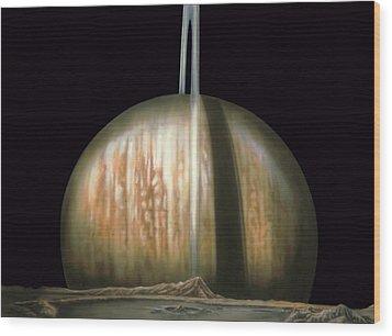 Saturn Rising Wood Print