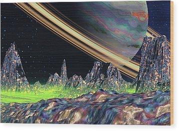 Saturn View Wood Print by David Jackson
