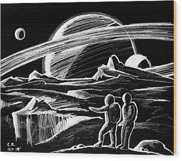 Saturn Visitors Wood Print by Daniel House