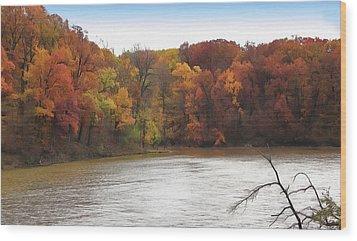 Sauk Lake Autumn Wood Print by Cedric Hampton