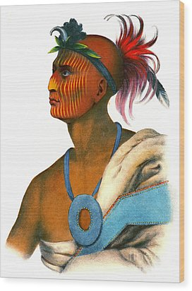 Wood Print featuring the photograph Sauk Warrior 1842 by Padre Art