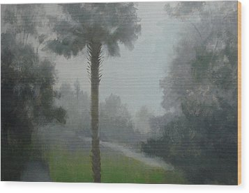 Savanna Fog Wood Print by Robert Rohrich