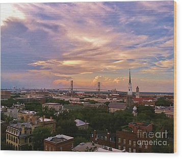 Savannah At Sunset Wood Print by Marilyn Carlyle Greiner