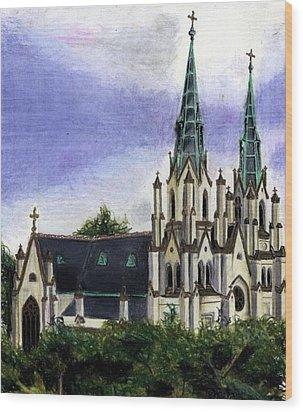 Savannah Cathedral Wood Print by Scarlett Royal