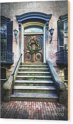 Wood Print featuring the photograph Savannah House 5 by Anthony Baatz