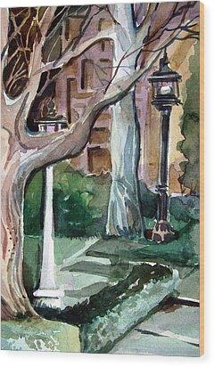 Savannah Park Wood Print by Mindy Newman