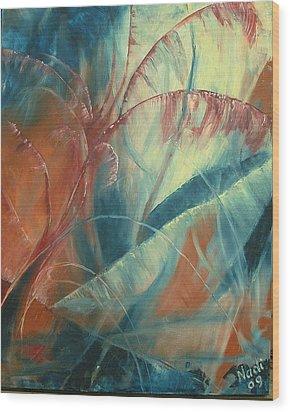 Wood Print featuring the painting Savannah by Renate Nadi Wesley
