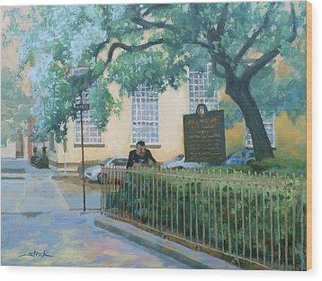 Savannah Shade Wood Print by Carol Strickland