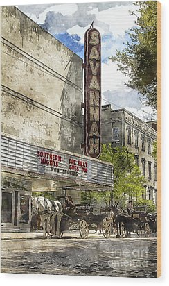 Savannah Theatre Wood Print