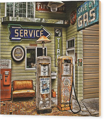 Save On Gas Wood Print