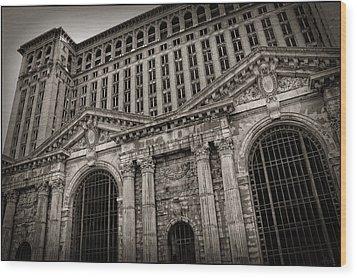Save The Depot - Michigan Central Station Corktown - Detroit Michigan Wood Print by Gordon Dean II