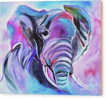 Save The Elephants Wood Print