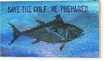 Save The Gulf America 2 Wood Print by Paul Gaj
