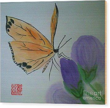 Save The Monarchs Wood Print