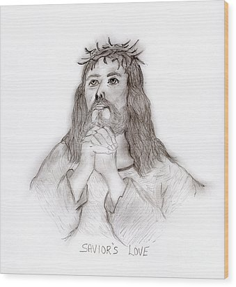 Savior's Love Wood Print by Sonya Chalmers