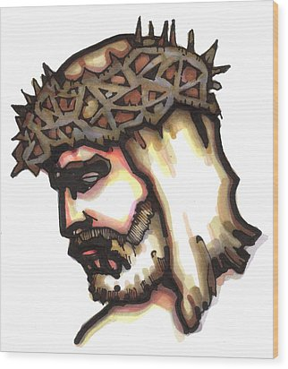 Saviour No 6 Wood Print by Edward Ruth